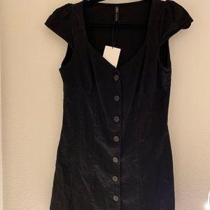 Zara NWT Black Button Down Dress